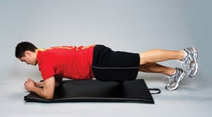 plank with foot lift