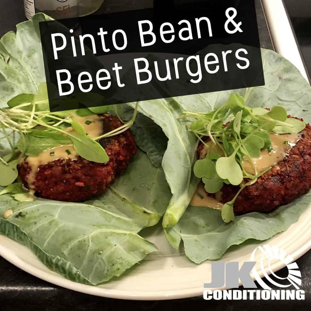 Pinto Bean Beet Burgers