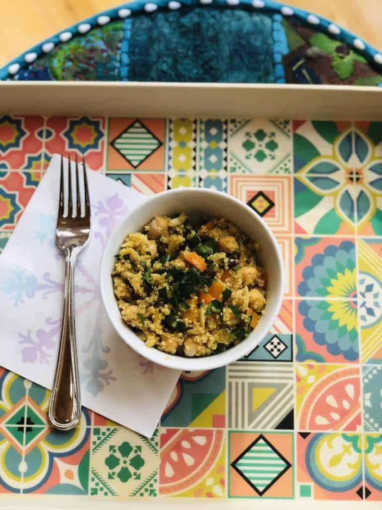 Curried Quinoa Chickpea Salad