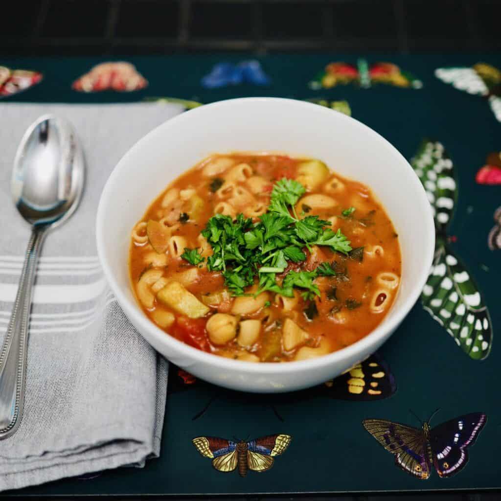 Smoky Minestrone Soup